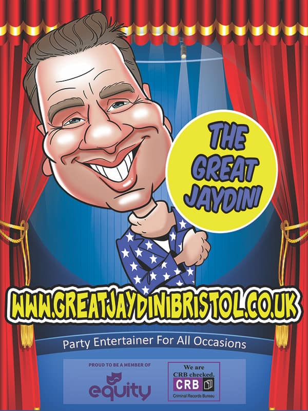 Incredible childrens entertainer Bristol – The Great Jaydini